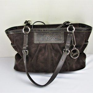 Brown Suede Hobo By Coach